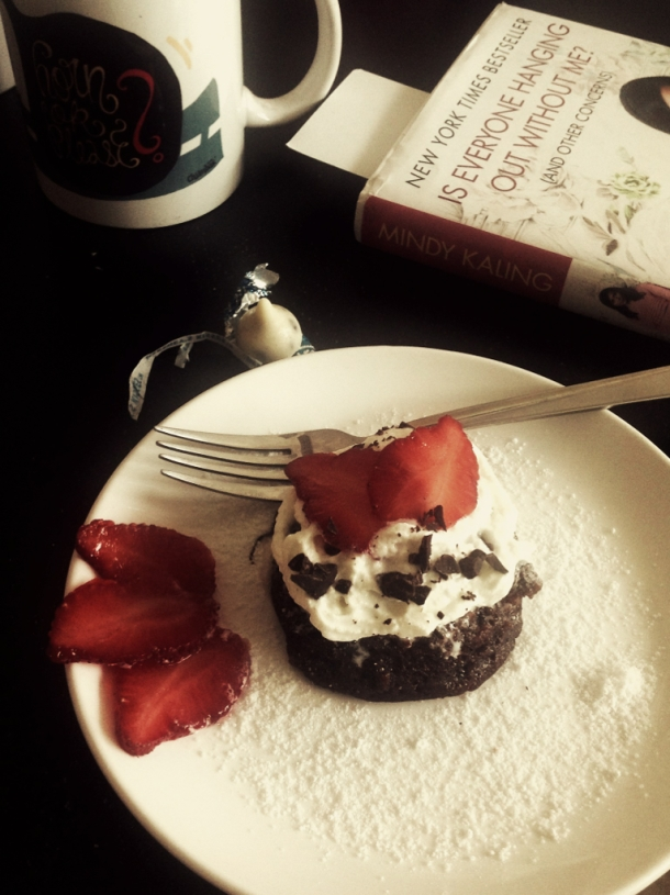 Oh, it sure does look like a show-stopper dessert  Grab some coffee, your favorite book and a fork…indulge!