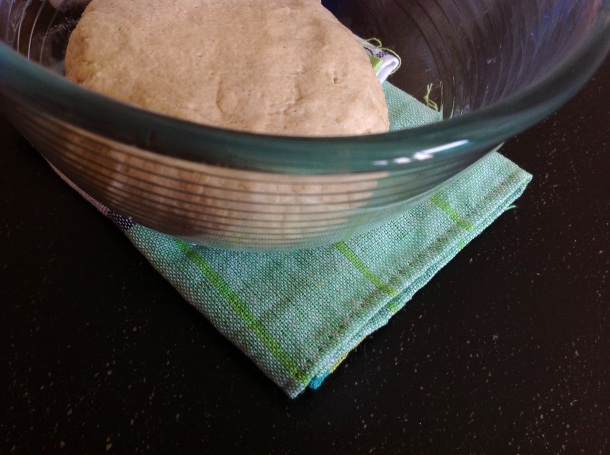 Knead the dough for at least 5 minutes, cover, and let it rest for almost an hour and half