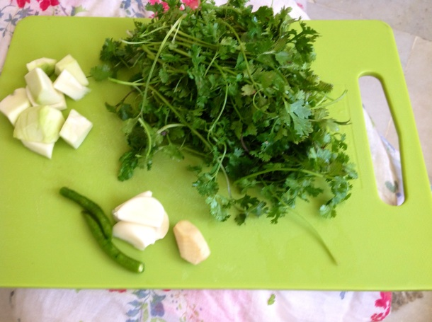 green chutney ingredients 2