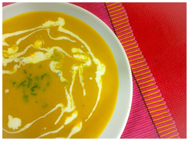 Bowled over with carrot soup