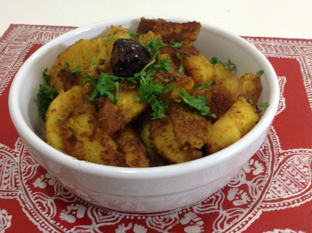 Nothing beats the taste of jamboo infused aloo ke gutke made in mustard oil